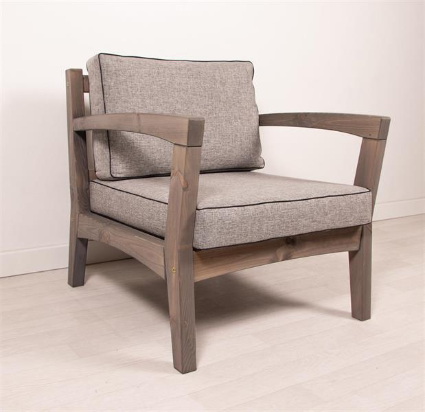 REIMANN Retro tuoli grafitinharmaa, harmaat pehmusteet