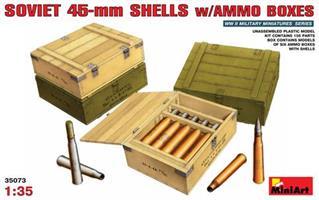 Soviet 45mm Shells w/Ammo Boxes
