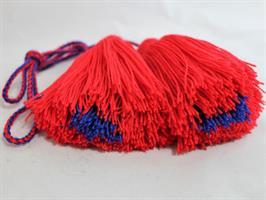 Dusker - Belte - Rød, blå