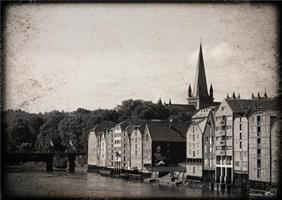 Åse Juul - Trondheim sort/hvit