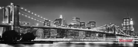 Komar fototapet Brooklyn Bridge Fiber bakside