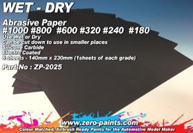 Wet and Dry Abrasive Paper #1000 #800 #600 #320 #2