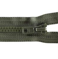 Glidelås delbar, grå 45cm