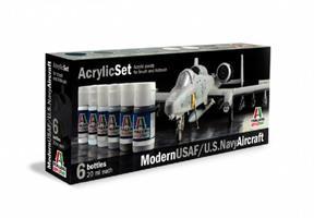 Acrylmaling Set. 6 stk. Modern USAF/U.S Navy Aircr