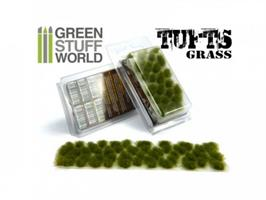 Grass TUFTS - 6mm self-adhesive Dry Green