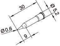 Tip Ersadur 0,6mm Pencil point
