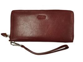 House plånbok med dragkedja Röd