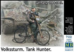 Volkssturm. Tank Hunter. Germany, 1944-1945.
