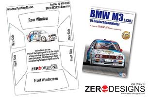 1:24 BMW M3 E30 Window Painting Masks