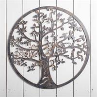 Träd, metall, väggdekoration