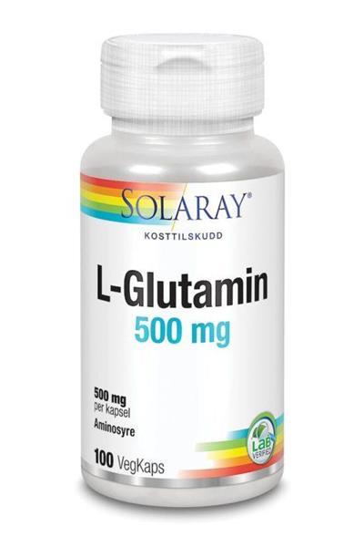 Glutamin, Solaray  500mg 100 tbl
