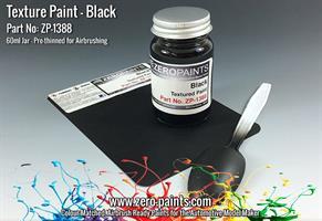 Black Textured Paint - 60ml (Engines, Interiors et
