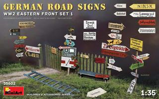 GERMAN ROAD SIGNS WW2 (EASTERN FRONT SET 1)