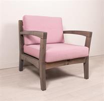 REIMANN Retro tuoli grafitinharmaa, pinkit pehmusteet