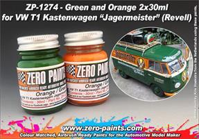 Green and Orange Paint Set 2x30ml For Revell 07076
