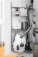 Städskskåpsinredning med softclose, silver/ljusgrå
