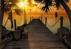 Komar fototapet Treasure Island