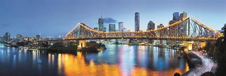 Komar fototapet Brisbane Fiber bakside