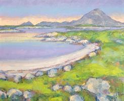 Bolga sett i fra Gammøya, Akrylmaleri