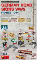 GERMAN ROAD SIGNS WW2 (FRANCE 1944)