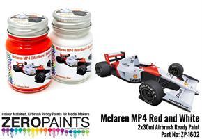 Mclaren MP4 (Marlboro) Red and White Paint Set