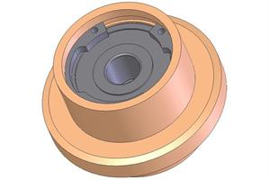 Deflection roller d=21mm
