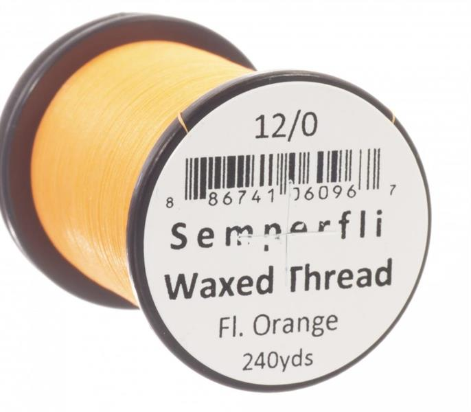 Vaxed Thread 8/0 240yards- Fl.Orange