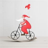 Tomte på cykel