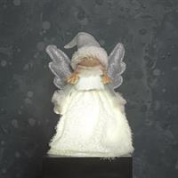 Ängel vit/silver LED