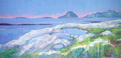 Kunna sett i fra Meløya, Akrylmaleri