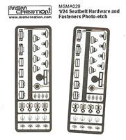 Seatbelt hardware and fasteners 1/24