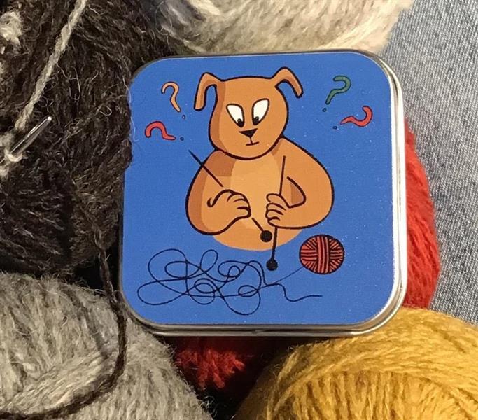 Björnen stickar, ask med pastiller