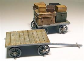 Railway cart on baggages