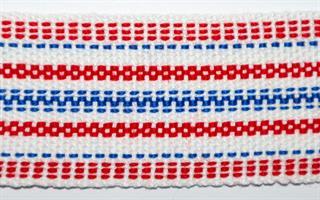 Herrebånd - Hvit, rød, blå