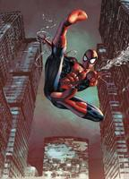 Komar fototapet Spider-Man Jump