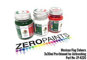 Mexican Flag Coloured Paints 3x30ml