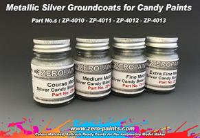 Fine Metallic SILVER Groundcoat for Candy Paints 6