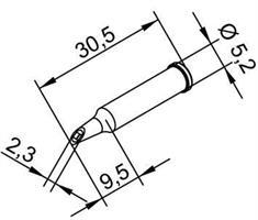 Tip Ersadur 2,3mm concave port