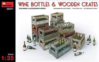 WINE BOTTLES & WOODEN CRATES