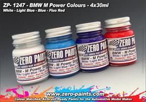 BMW M Power Colours Paint Set 4x30ml
