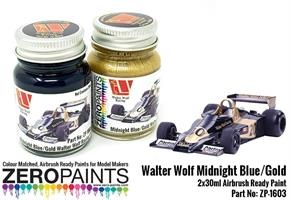 Walter Wolf Midnight Blue and Gold Paint Set