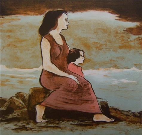 Dagfinn Bakke-Mor og barn