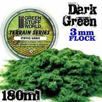 Static Grass Flock 3 mm - Dark Green - 180 ml