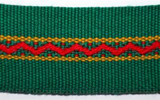 Damebånd - Grønn, rød, gul