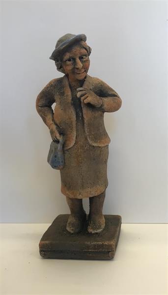 Steinar Garberg - Dame med blå hatt