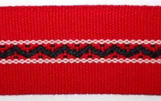 Damebånd - Rød, svart, hvit
