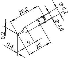 Tip Ersadur 0,4mm chisel shape