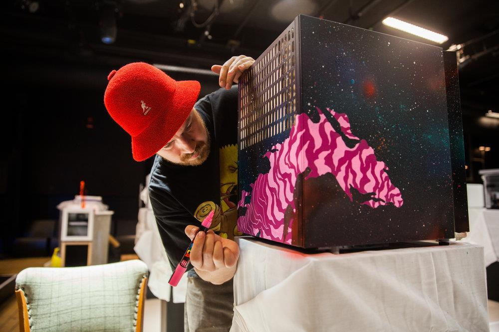 In action, Red Bull Canvas Cooler 2015 (en av tre vinnare) (one of three winners).
