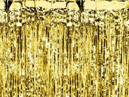 Party curtain gold   0,9/2,5m