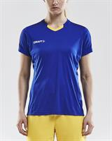 Sporttröja Craft progress jersay women gul/royalblå stl M